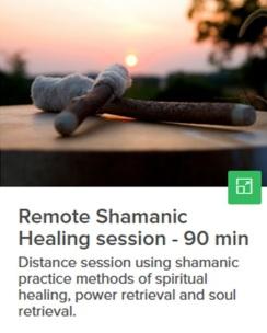 Remote shamanic healing